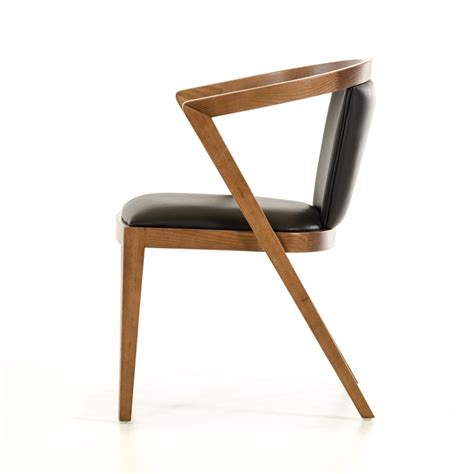 modrest gregor mid century black walnut dining chair