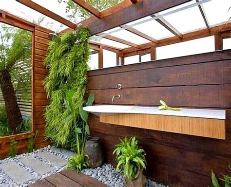 Garden Bathroom Ideas Outdoor Bathroom In The Middle Of A Tropical Garden