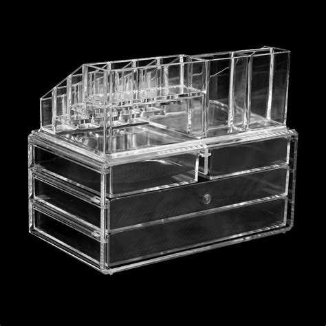 Clear Acrylic Makeup Storage Drawers by Clear Acrylic Cosmetic Organizer 4 Drawer Drawer Makeup