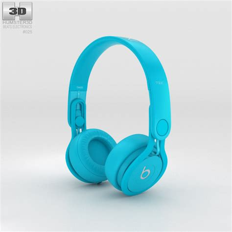 beats light blue beats mixr high performance professional light blue 3d