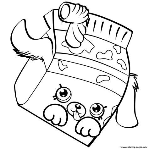 shopkins milk coloring page petkins dog snout shopkins season 4 coloring pages printable