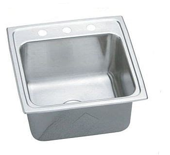 top mount kitchen sink no holes elkay dlr191910 gourmet lustertone stainless steel