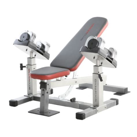weider club weight bench weider club side kick bench and dumbbells