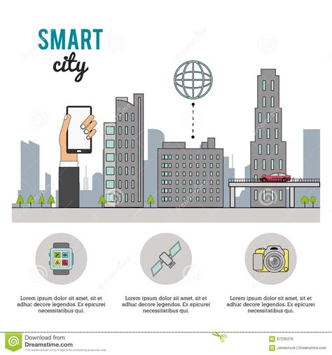 smart design smart city design stock illustration image 67235376