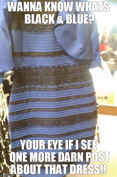 Meme Dress - gold dress blue dress memes