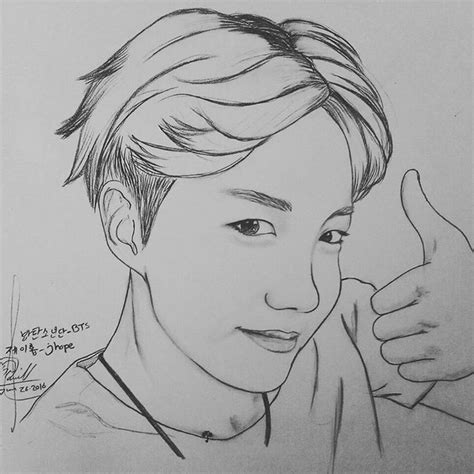 Jhope Drawing Easy by 제이홉 트위터 업데이트 160626 Jhope Twt Update After Kcon Ny Draw