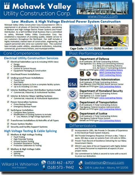 View Our Federal Government Landing Page Capability Statement Template For Government Contractors