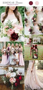 wedding color combos top 5 rustic bohemian chic wedding color palettes we