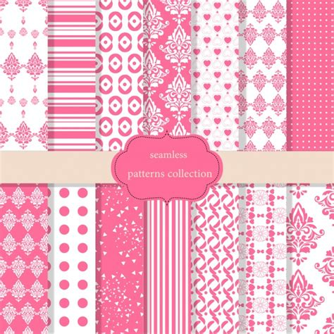 pink pattern free download pink patterns collection vector free download