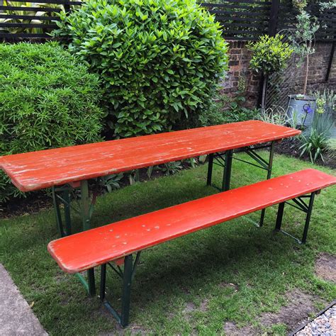 beer bench vintage beer table and bench set vintage matters