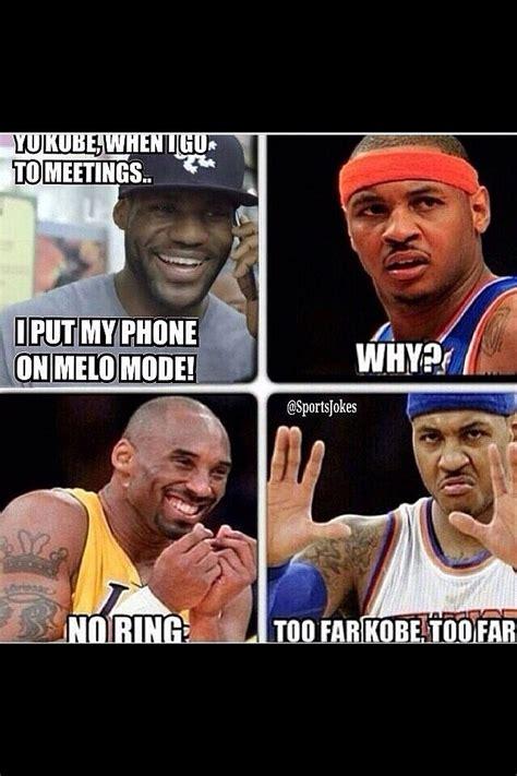 Carmelo Anthony Meme - lebron james kobe bryant carmelo anthony no ring meme r