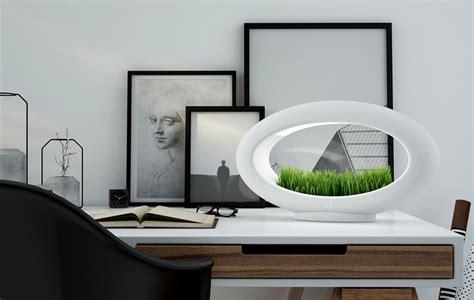 le de bureau design led le de table sans fil 224 led avec mini jardin la grassl