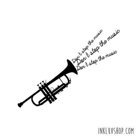trumpet tattoo designs musical trumpet design by maddi san