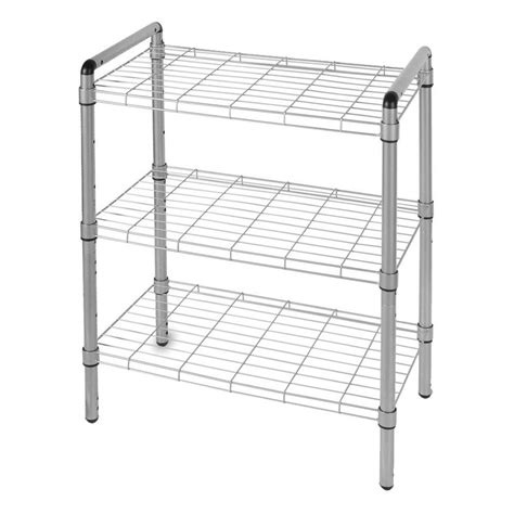 etagere 2 stöckig silber the of storage 23 in 3 tier adjustable wire shelving