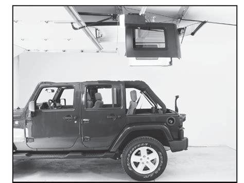 Harken Hoister Jeep How To Install A Harken Hoister Garage Storage 4 Point