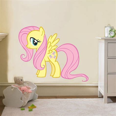 childrens removable wall stickers fluttershy my pony decal removable wall sticker home decor ebay