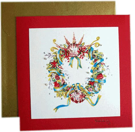 surrey cards christmas cards red wreath