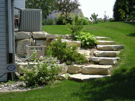 small sloped backyard backyard slope planting bed design and ma landscaping