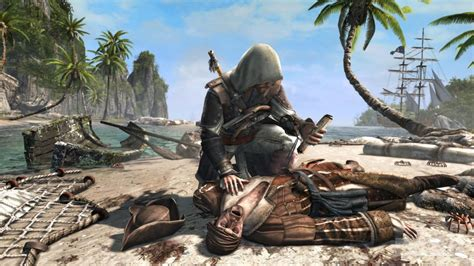 Assassin S Creed 4 Black Flag Shots Show Shark Combat Assassins Creed 4 Black Flag