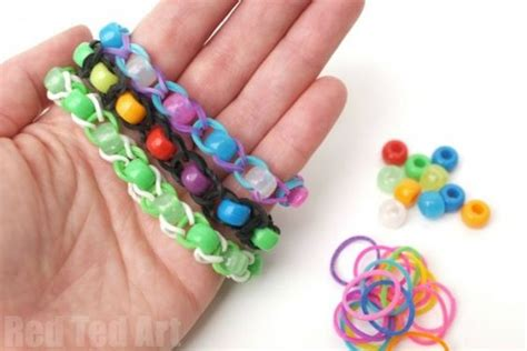 Rainbl Finger Loom Yellow pony bead loom band patterns finger looming loom bands bracelets and patterns