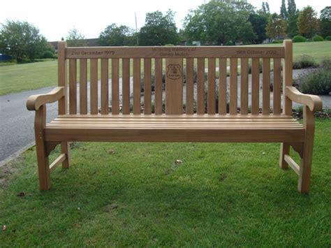 teak memorial benches kenilworth 1 8m fsc certified teak memorial bench with