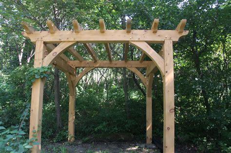 a frame pergola timber pergola construction details woodideas