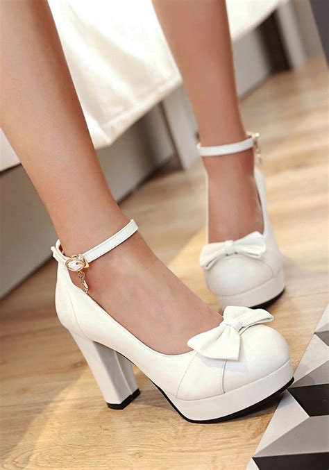 white high heels with bow white heels with bow ha heel