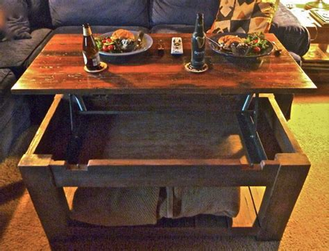diy lift top coffee table mechanism wooden  bookcase