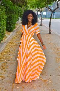 style pantry neon orange striped maxi