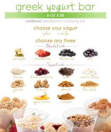 yogurt bar menu shake smart healthy foods