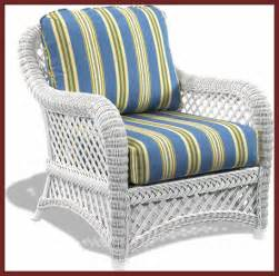White wicker chair lanai style traditional outdoor
