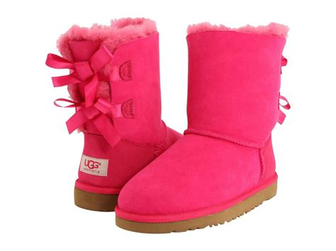 New Ugg Australia Bailey Bow Cerise