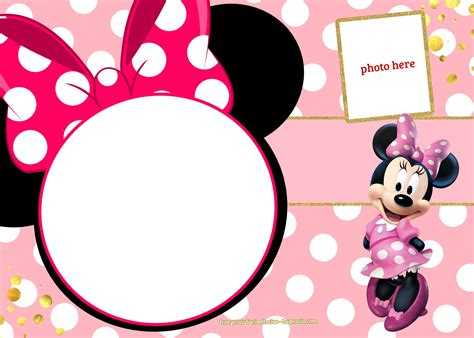 Minnie Mouse Birthday Card Template by Free Printable Minnie Mouse Invitation Template Polka