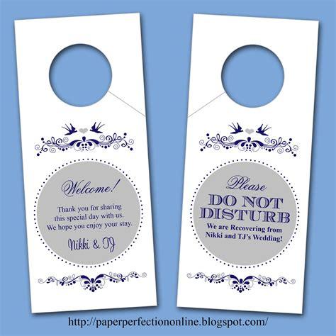 Door Hanger Paper paper perfection april 2012