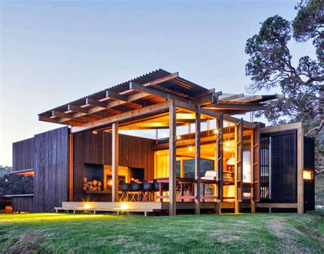 New Zealand Beach House Transforms Into An Open Aired Paradise New Zealand Beach House