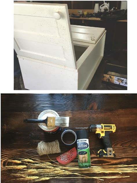 Turn a Cabinet Door Into a Hanging Sign   Hometalk