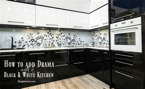 black and white kitchen ideas how to add drama with a black and white kitchen
