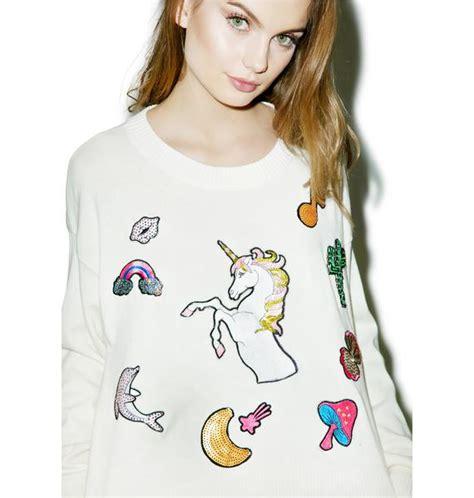 Sweater Fairytail Spo wildfox couture fairytail friends sweater dolls kill