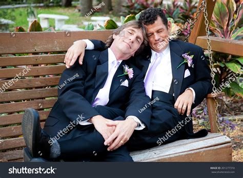 swing gay gay couple relaxes on swing after stock photo 201277310