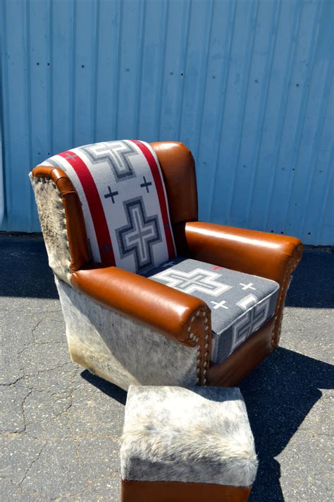 wingback swivel rocking chair wingback leather chair rocking swivel chair vintage upcycled