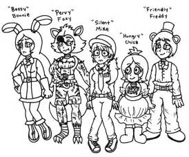 Character redesigns of five nights at freddy s by foxgirlkira