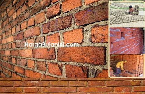 harga batu bata merah terbaru bahan dinding rumah  tanah liat    agustus