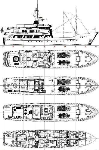 Yacht Turmoil Layout | luxury charter yacht putty vi ex turmoil palmer johnson