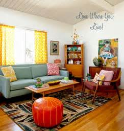 retro livingroom home the bungalow inspiration files mid century mod living room squirrelly minds