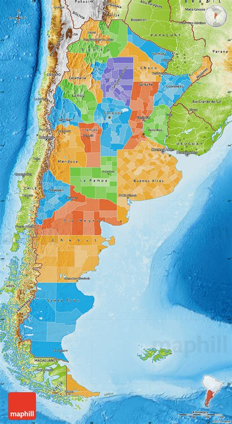 argentina physical map political map of argentina physical outside