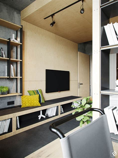 stylish home storage solutions home designing a concrete and wood townhouse in belarus