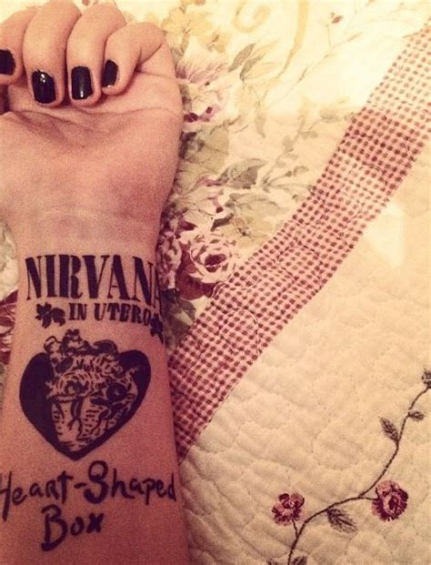 nirvana heart shaped box tattoo тαttσσ 237 dєαs pinterest
