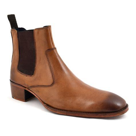 shop mens cuban heel chelsea boot gucinari