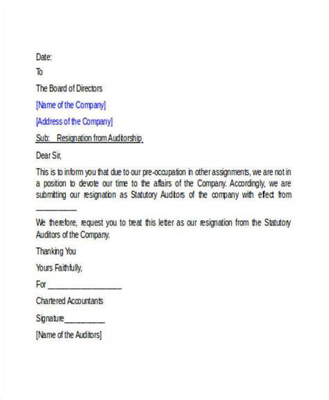 Auditor Resignation Letter by Auditor S Letter Of Resignation Docoments Ojazlink