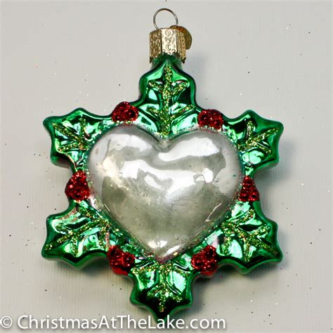 heart ornament christmas at the lake